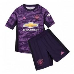 پیراهن شورت دروازه بانی بچگانه منچستریونایتد Manchester United 2019-20 GK Soccer Jersey Kids Shirt+Short