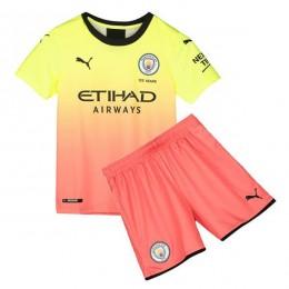 پیراهن شورت بچگانه سوم منچسترسیتی Manchester City 2019-20 3rd Soccer Jersey Kids Shirt+Short