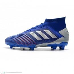 کفش فوتبال آدیداس پردیتور طرح اصلی آبی نقره ای Adidas Predator 19.1 FG Blue Active Red Silver Metallic