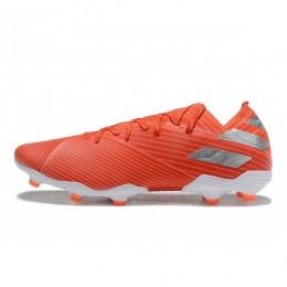 کفش فوتبال آدیداس نمزیز طرح اصلی قرمز نقره ای Adidas Nemeziz 19.1 FG Active Red Silver Solar Red