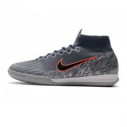 کفش فوتسال نایک مرکوریال طرح اصلی خاکستری مشکی Nike Mercurial SuperflyX VI Elite IC Armory Blue Black Wolf Grey