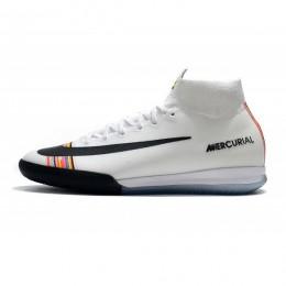 کفش فوتسال نایک مرکوریال طرح اصلی سفید مشکی Nike Mercurial SuperflyX VI Elite IC White Black Pure Platinum