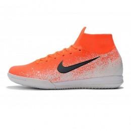 کفش فوتسال نایک مرکوریال طرح اصلی نارنجی سفید Mercurial SuperflyX VI Elite IC Hyper Crimson Black White