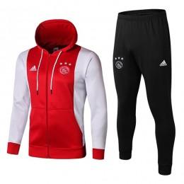 هودی و شلوار آژاکس قرمز سفید Ajax Hoodie Tracksuits 2019-2020