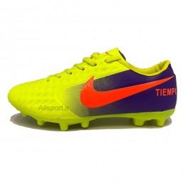 کفش فوتبال نایک تمپو سایز کوچک طرح اصلی زرد Nike Tiempo Y 2018