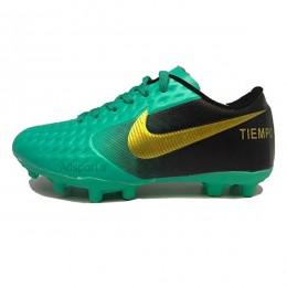 کفش فوتبال نایک تمپو سایز کوچک طرح اصلی سبز مشکی Nike Tiempo Green Black 2018