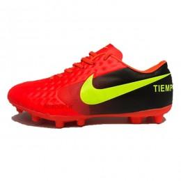 کفش فوتبال تمپو سایز کوچک طرح اصلی قرمز Nike Tiempo red 2018