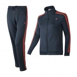ست گرمکن و شلوار زنانه آدیداس اسنچالز 3 استرایپس نیت سوئیت Adidas Essentials 3-Stripes Knit Suit