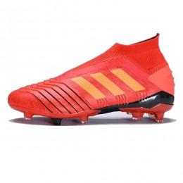 کفش فوتبال آدیداس پردیتور سایز کوچک طرح اصلی قرمز مشکی Adidas Predator 19+ FG Active RedSolar RedCore Black