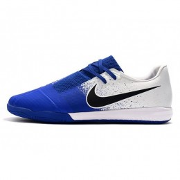 کفش فوتسال نایک فانتوم طرح اصلی آبی سفید Nike Phantom Vnm Pro Ic White Black Racer Blue