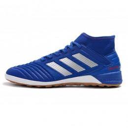 کفش فوتسال آدیداس پردیتور طرح اصلی آبی Adidas Predator 19.3 IN Blue Silver Metallic Active Red