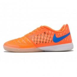 کفش فوتسال نایک لونار گتو طرح اصلی نارنجی آبی Nike Lunar Gato II IC Orange Blue