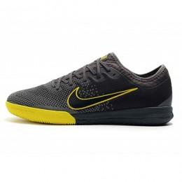 کفش فوتسال نایک مرکوریال طرح اصلی مشکی خاکستری زرد Nike Mercurial Vapor XII Pro IC Dark Grey Black Yellow