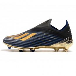 کفش فوتبال ادیداس ابی طلایی مشکی Adidas X 19+ FG Blue Gold Core Blac