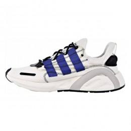 کتانی رانینگ مردانه آدیداس سفید آبی Adidas Lxcon Yeezy Boost 600