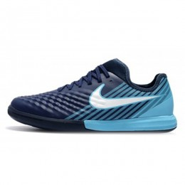 کفش فوتسال نایک مجیستا ایکس فاینال طرح اصلی آبی سفید Nike MagistaX Finale II IC Blue White