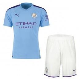 پیراهن شورت اول منچستر سیتی Manchester City 2019-20 Home Soccer Jersey Kit Shirt+Short