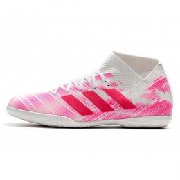 کفش فوتسال آدیداس نمزیز تانگو طرح اصلی صورتی سفید Adidas Nemeziz Tango 18.3 IC Pink White