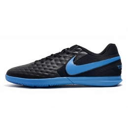 کفش فوتسال نایک تمپو لجند طرح اصلی مشکی آبی Nike Tiempo Legend VIII Club IC Black Blue