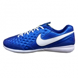 کفش فوتسال نایک تمپو لونار لجند طرح اصلی آبی سفید Nike Tiempo Lunar Legend Blue White 2019