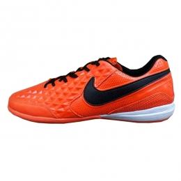 کفش فوتسال نایک تمپو لونار لجند طرح اصلی مشکی نارنجی Nike Tiempo Lunar Legend Black Orange 2019