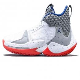 کفش بسکتبال سایز کوچک نایک Nike Air Jordan white orange