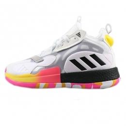 کفش بسکتبال مردانه آدیداس Adidas Zone Boost White Black Orange Yellow