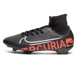 کفش فوتبال نایک مرکوریال ساقدار طرح اصلی مشکی نارنجی Nike Mercurial 2019