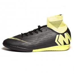 کفش فوتسال ساقدار نایک مرکوریال طرح اصلی مشکی فسفری Nike Mercurial 2019
