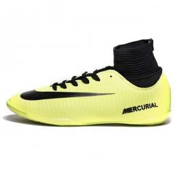 کفش فوتسال ساقدار نایک مرکوریال طرح اصلی فسفری مشکی Nike Mercurial 2019