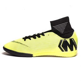 کفش فوتسال ساقدار نایک مرکوریال طرح اصلی زرد مشکی Nike Mercurial 2019