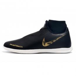 کفش فوتسال ساقدار نایک فانتوم طرح اصلی مشکی طلایی Nike Phantom Vision Academy DF IC Black Metallic Gold