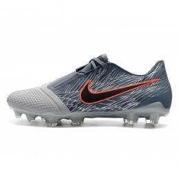 کفش فوتبال نایک فانتوم طرح اصلی خاکستری مشکی آبی Nike Phantom VNM Elite FG Grey Black Blue