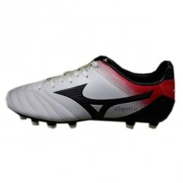 کفش فوتبال میزانو طرح اصلی سفید مشکی قرمز Mizuno Morelia FG White Black Red