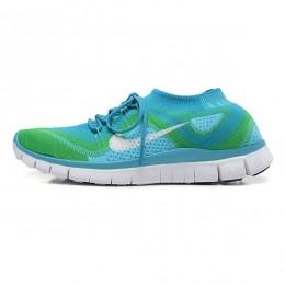 کتانی رانینگ مردانه نایک فری فلای نیت Nike Free Flyknit Blue Green White