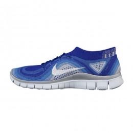 کتانی رانینگ زنانه نایک فری فلای نیت Nike Free Flyknit Blue White