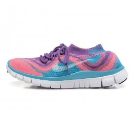 کتانی رانینگ زنانه نایک فری فلای نیت Nike Free Flyknit Pink Purple Blue