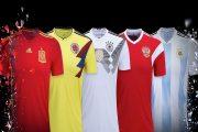 رونمایی آدیداس از پیراهن جام جهانی ۲۰۱۸ تیم های مختلف